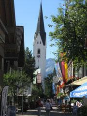 Kirchstraße in Oberstdorf