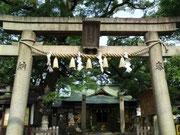 尼崎市皇大神社 東鳥居