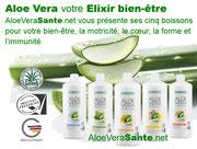 Aloe Vera Sante avec LR Health & Beauty   Aloé Vera Santé propose quatre 4 gels purs à boire, fabriqués en Allemagne. Tous contiennent entre 90 et 99 % de gel pur d'aloé vera (pulpe), du miel