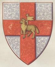 十字軍の紋章が建物のあちこちに
