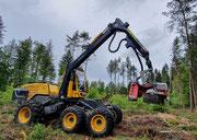 Holzernte Vollernter Harvester Caterpillar 580 B