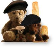 Kasimir, Cäsar und Fredi als Franzosen