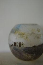 橋村野美知 丸花瓶
