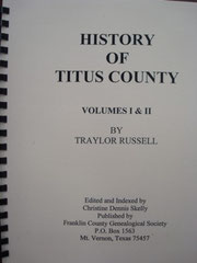 Cover of History of Titus County, Texas, Volumes I and II (Russell)
