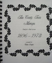Cover of Titus County, Texas, Marriages -- Bride's Index, 1896-1973