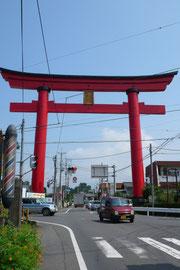 日本国総鎮守赤城山の鳥居