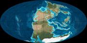 Bild der permischen Erde