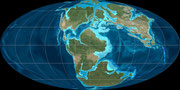 Bild der jurassischen Erde