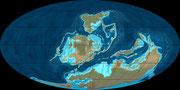 Bild der devonischen Erde