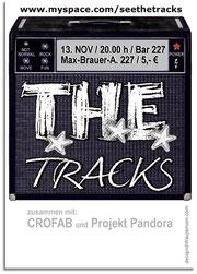 frau jenson, T.H.E.-Tracks, Logo in Plakatentwurf