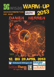 Turnierplakat WISAG Warm-Up 2013