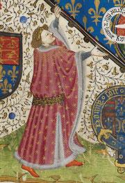 Humphrey, Duc de Gloucester.Par Talbot Master. digitised image, British Library, Royal 15 E VI f2v.wikimedia.org