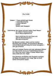 Turrón-Rezept - bitte anklicken!