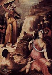 Domenico Beccafumi: Moses und das Goldene Kalb