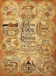 Isländische Aufgabe der Prosa-Edda aus dem 18. Jahrhundert