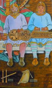 une vielle à roue (exposition à Pamiers/Ariège)