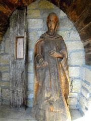 Saint Dominique et un bout de la poutre du miracle (Fanjeaux / Aude)