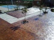 pavimento de hormigón impreso en Madrid