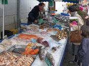Marché, Blangy sur Bresle, poissons, légumes, fruits