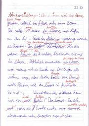 geschriebener Text mit viel rot