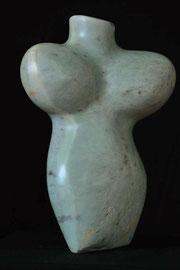 Beflügelte Frauenskulptur Speckstein Skulptur Torso