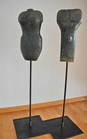 Das Paar Speckstein Skulptur