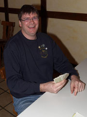 Thomas, 2. Vorsitzende vom Skatclub 'Die Kiebitze'