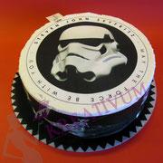 Fondant Star Wars Aufleger Milchmädchen Torte