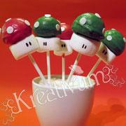 Cake Pops - Anleitung Super Mario Pilze