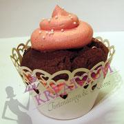 Cupcake Schoko Himbeere