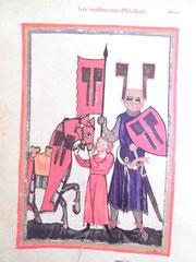 Wolfram von Eschenbach (Manessische Liederhandschrift, Heidelberg)