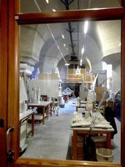 Blick in die Werkstatt im Museum