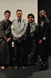 With Yajuro Bando, Takuya Matsumoto & Wendell Harrison