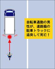 自転車通勤事故