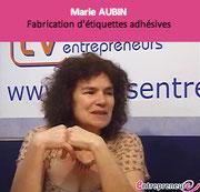 témoignage de marie aubin de Braizat Etiquettes sur l'entreprenariat au féminin