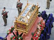 """""""Urna para el Cristo Yacente"""".Foto cedida por hermano de la cofradía."""
