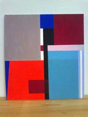 Ellen Roß: o.T., 2012, Acryl auf Holz, 35 x 30 cm