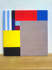 Ellen Roß: o.T., Acryl auf Holz, ca. 30 x 30 cm