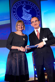 Gratefully accepting my WSET Diploma from the most eminent Jancis Robinson OBE MW