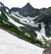 氷河公園から槍ヶ岳