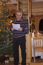 """Obmann Hans Schachinger bei seiner """"Weihnachtsansprache"""""""