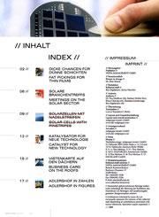 Adlershof special 06: manipuliertes Inhaltsverzeichnis und Impressum