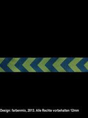Band 1 Chevron-Webband, petrol-grün