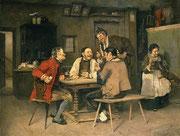 Heinrich Weber: Kartenspiel im Dorfwirtshaus , 1886