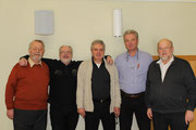 v.l.: Paul Velling, Bruno Fischer, Willi Karsjens, Franz Peltzer, Peter Gall
