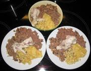 Abendmenü für drei hungrige Mäulchen