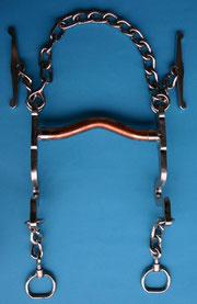 Nr. 6 Pferdegebiss mit Kupfereinsatz Mundstück gebogen Kaltblut  von Alois Achatz Pferdeartikel / Horse Products horse bits