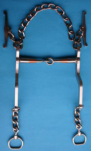 Nr. 4 Pferdegebiss Kaltblut mit Kupfereinsatz von Alois Achatz Pferdeartikel / Horse Products horse bits