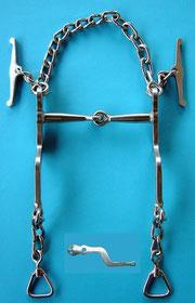 Nr. 1 Pferdegebiss Kaltblut Edelstahl von Alois Achatz Pferdeartikel / Horse Products horse bits