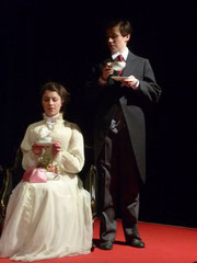 """The Importance of Being Earnest"" March 2011...Gudrun Tockner (Gwendolen), Anna Holzer (Ernest)"